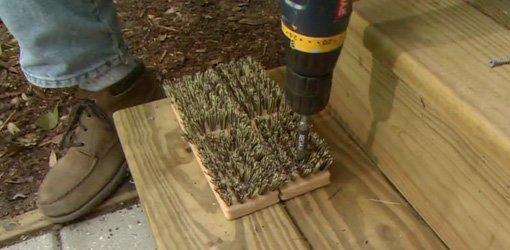 Diy Doormat Boot Scraper Today S Homeowner