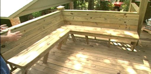 How To Add Built In Seating To A Deck Today S Homeowner