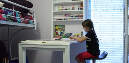 Do It How To Build A Child S Wall Mounted Folding Desk