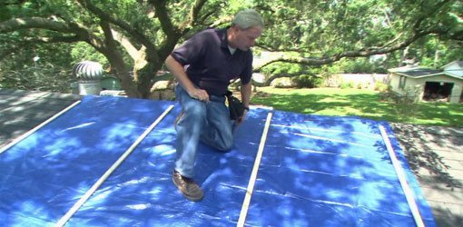 How To Attach A Tarp To A Leaking Storm Damaged Roof