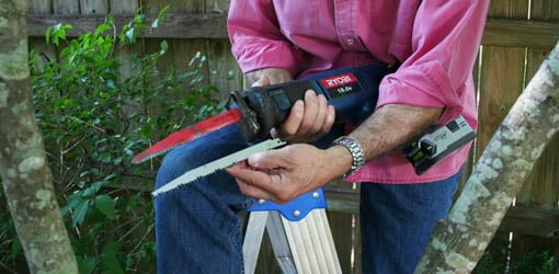 Use A Reciprocating Saw To Prune Tree Branches Faster Than