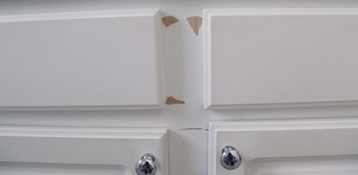 How to Repair and Paint Plastic Coated Melamine Cabinets ...