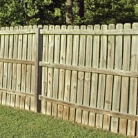 Wood privacy fence