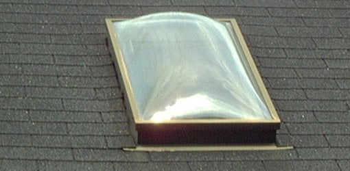 skylight installed on roof.