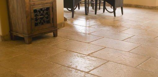Tile floor.