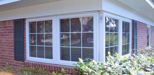 New corner windows on home.