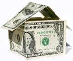 Dollar bill house.