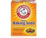 Box of Arm & Hammer Baking Soda.