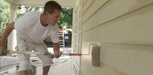 Painting fiber cement siding