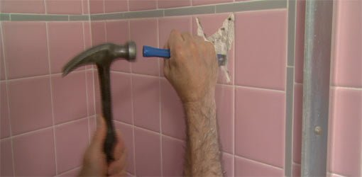 Awesome How To Remove A Bathroom Wall Tile Todays Homeowner Download Free Architecture Designs Ogrambritishbridgeorg