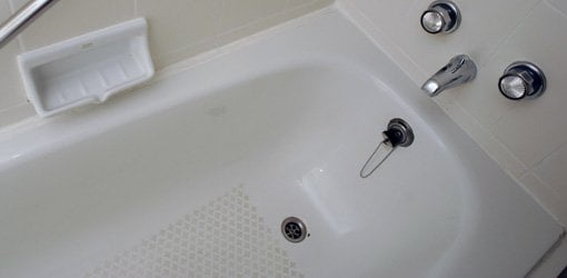 Bathtub drain.
