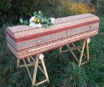 Eco-friendly coffin.
