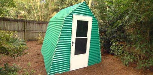 Greenhouse in yard