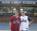 Danny Lipford and Joe Turini at Hank Aaron Stadium.