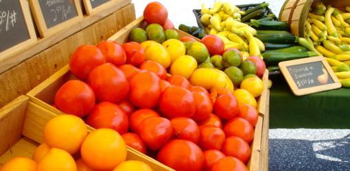 Fresh vegetables at farmer's market.