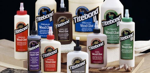 Bottles of Titebond wood glue