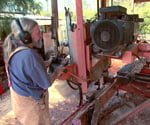 Roy Hyde and his sawmill