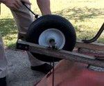 fixing wheelbarrow tire