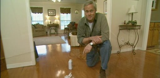 Danny Lipford with squeaking wood floor