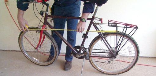 Measuring bike for hooks to hang in garage.