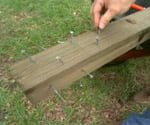 reinforcing a wooden post