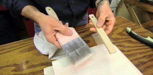 Cleaning a Paintbrush