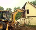 tearing down old garage