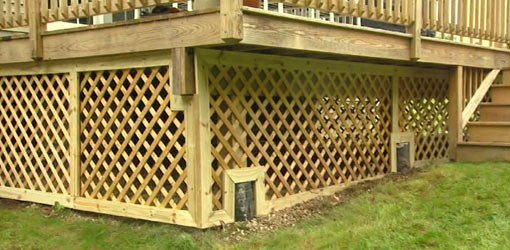 How To Trim Lattice Around A Deck Foundation Today S