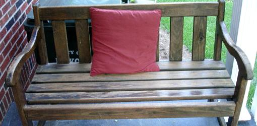 Bench on porch