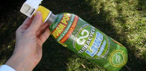 Organic fertilizer bottle