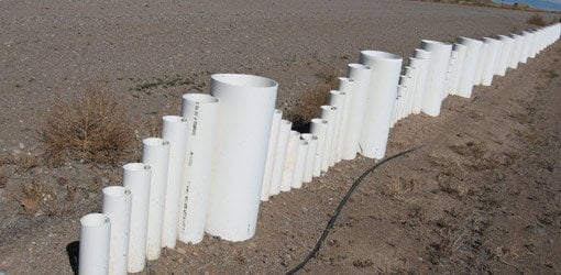 Recycled PVC Pipe Fence