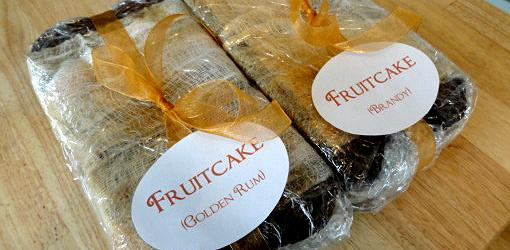 Fruitcakes ripening for Christmas