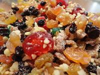 Dried fruit used in making fruitcake