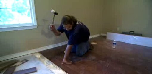 installation of a prefinished floor