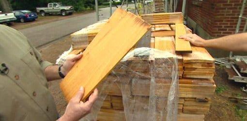 Cypress shake siding