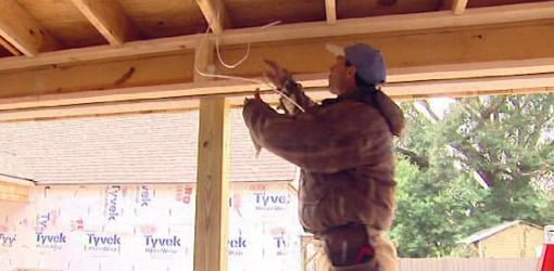 Soffit framing for retractable screens