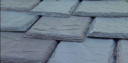 Plastic slate roofing