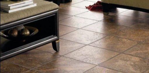 Vinyl tile flooring
