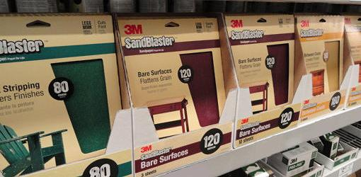 Sandpaper on store shelf