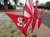 Flags on yard