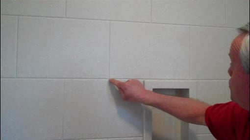 Solid Surface Shower Surround Offers The Look Of Tile