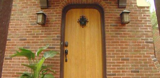 Cypress front door with wireless combination lock