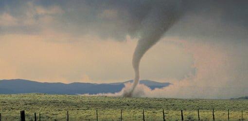 Tornado in field