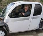 Danny Lipford driving an all electric car