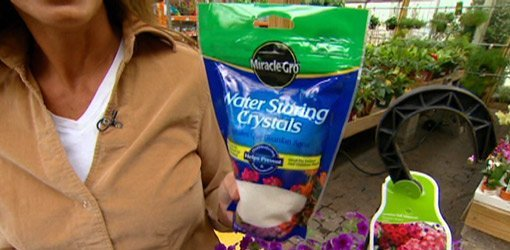 Bag of Water Storing Crystals from Miracle-Gro