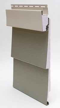 Vinyl siding back-filled by energy-efficient polystyrene foam insulation