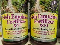 Fish emulsion fertilizer