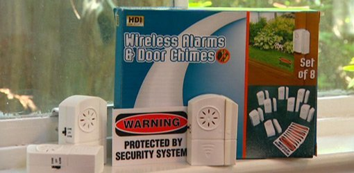Wireless alarm system box and alarms