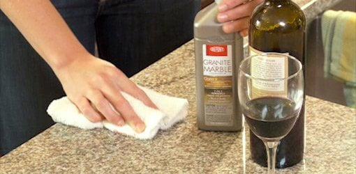 Cleaning natural stone countertop