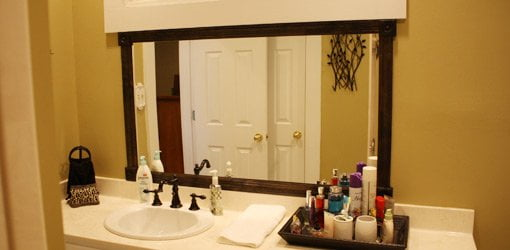 How To Add A Wood Frame To A Bathroom Mirror Today S